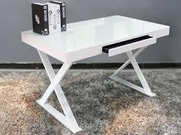 glass top office desk modern. Modern Wood Office Desk White Glass Top 528c634a4bb93e13 E