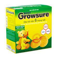 Bánh Growsure vị đậu xanh 168 gram dành cho bé ăn dặm từ 6 tháng Bibica -  Xanh lá - Online Fair