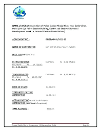 Work Completion Form Template Building Completion Certificate Work
