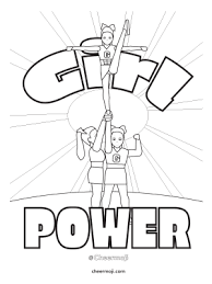 Small Picture Cheerleading Coloring Pages by Cheermoji