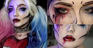 easy makeup ideas pop art harley quinn