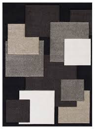 beautiful geometric modern contemporary hand curved area rug black