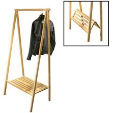 Collapsable Coat Rack Portable Clothes Rack for Events and Camping Wood Garment Rack A 24