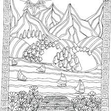 Calming Coloring Pages H5241 Calming Coloring Pages A Magical Tree