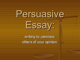 Example Of An Argumentation Persuasion Essay Buy An Essays