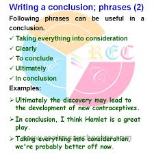 Phrases For Essays Useful Phrases When Writing An Essay