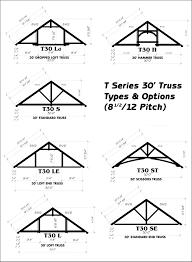 30 Foot Truss Design Ozark Timber Frame Standard Truss Options