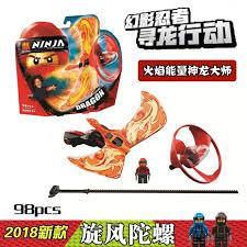 Đồ chơi con quay lốc xoáy Ninjago 10932 rực lửa rồng của Kai