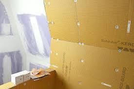 kerdi board installation board 3 schluter kerdi board shower installation kerdi board shower niche installation