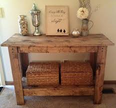 Rustic Console Table Magnificent Rustic Console Table DIY And Rustic