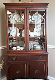 FINALLY found a picture of how to arrange china cabinet