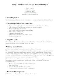Financial Advisor Assistant Sample Resume Fascinating Finance Resume Objective For Internship Statement Examples Duties