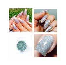 Mermaid Laser Silver Holographic Acrylic Powder Pre Mixed Glitter ...