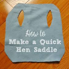 Chicken Saddle Pattern Best Linn Acres Farm How To Make A Simple Hen SaddleApron