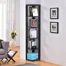 home office bookshelf. amazoncom topeakmart 5 tier espresso wood wall corner bookshelf display bookcase home office living room furniture kitchen u0026 dining e