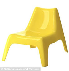 ikea miniature furniture. take it easy this yellow chair is one of six pieces that come with ikea miniature furniture n