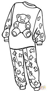 Pajamas For A Girl Coloring Page Free Printable Coloring Pages
