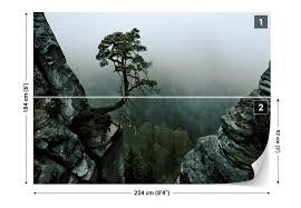 The Lonely Tree In The Cliff Fotobehang Behang Bestel Nu Op