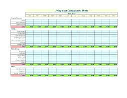 Price Comparison Sheet Excel Analysis Template Software Product ...