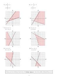 systems of equations and inequalities worksheets solving systems of equations by graphing worksheet answer thumbnail