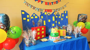 Avengers Party Decorations The Avengers Birthday Theme Party Ideas Youtube