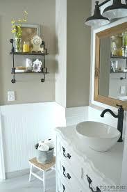 old farmhouse bathroom ideas farm mountain with style vanity decorating on a budget