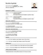formato curriculo word plantillas de curriculum vitae en word para descargar gratis
