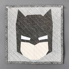 My EPP Batman Mini Quilt | an Art School Dropout's life & Crafty Geeks Paper Pieced Batman {an Art School Dropout's life} Adamdwight.com