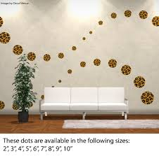 reusable custom set leopard print circle polka dot wall decals