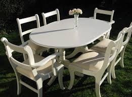 fabulous white dining table and 6 chairs unique pieces of furniture hand bu16
