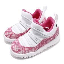 Details About Nike Jordan 11 Retro Little Flex Td Pink Snakeskin Toddler Baby Shoes Bq7104 106