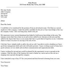 Cover Letter For A Promotion   The Letter Sample Resume Genius