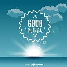 good morning label vector free vector