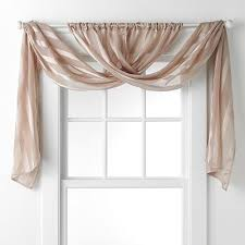 Bathroom valance curtains Window Valance This Would Be An Easy One To Diyjust Make Two Long Panels Of Fabric You Like Hang Them On The Rod Crisscross Them And Drape Them Over The Ends Of The Egutschein 11 Fabulous Valance Designs And Tutorials Craftiness Pinterest