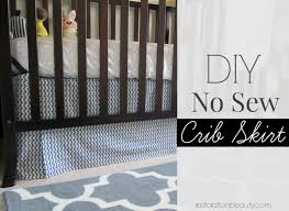 diy no sew adjule crib skirt no more bunching up when mattress is lowered