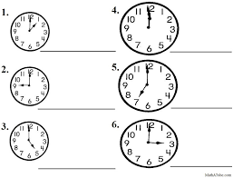 Free Telling Time Worksheets, Missing hands Time Clock | Telling ...