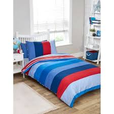 red blue green bedspread kids single duvet twin pack bedding boys blues stripe blue and red toddler bedding