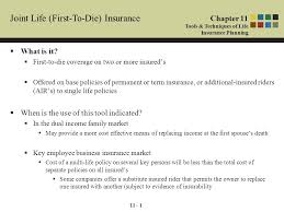 11 1 joint life first to insurance what is