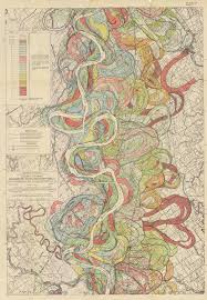 Army Corps Of Engineers River Charts The Marvelous Mississippi River Meander Maps