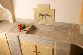 Stone Kitchen 1 Bowl Kitchen Sink Natural Stone E001 Occitanie Pierres