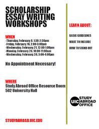 College Essay Writing Workshop Study Abroad Scholarship Essay Writing Workshops Uic