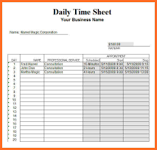 Google Docs Timesheet Template Shatterlion Info