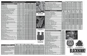 Blackhawk Holster Size Chart