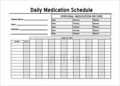 Medication Chart Template Free Download Alicia Mae Gruber Aliciagruber09 On Pinterest