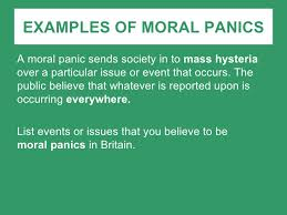 moral panic examples of moral
