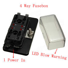 4 way blade fuse box holder ato car boat circuit led blown warning 4 way blade fuse box holder ato car boat circuit led blown warning