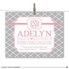 il 570xn on personalized baby girl wall art with pink and gray nursery art baby girl canvas nursery wall art
