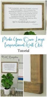 diy large modern inspirational wall art