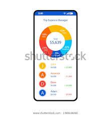 vacation expense calculator travel expense tracker smartphone interface vector stock
