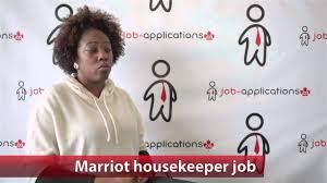 marriott housekeeping marriott housekeeper job youtube